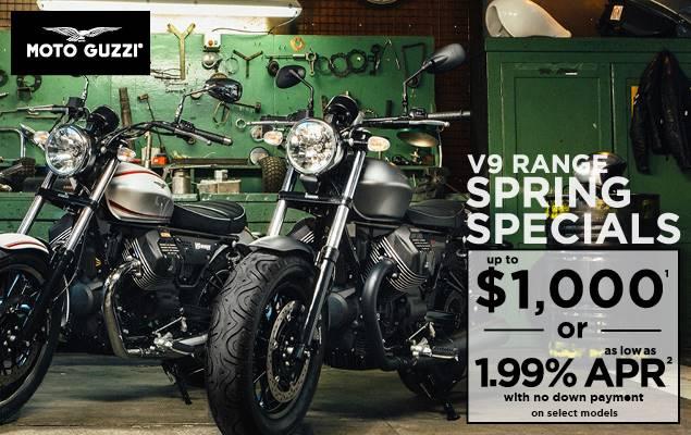 Moto Guzzi V9 Range Spring Specials