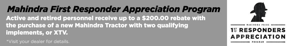 Mahindra First Responder Appreciation Program!