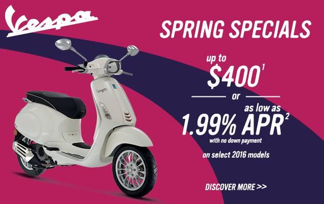 Vespa - Spring Specials