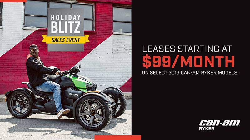 Can-Am - Holiday Blitz Sales Event - Ryker Offers