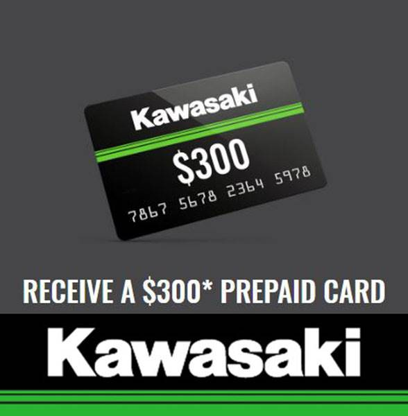 Kawasaki - Receive a $300 Prepaid Card When Purchasing Select Models
