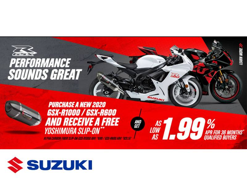 Suzuki Motor of America Inc. Suzuki - Performance Sounds Great