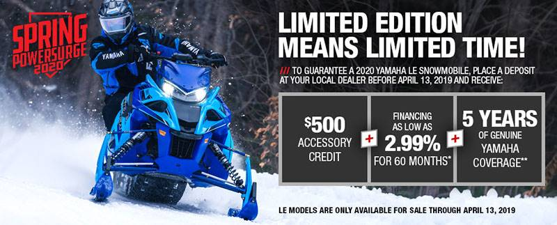 Yamaha Motor Corp., USA Yamaha Snowmobile - Current Offers & Financing - Spring Power Surge Only