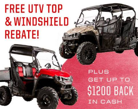 Mahindra - UTV Free Top & Windshield Rebate
