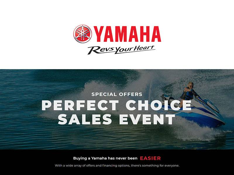 Yamaha Motor Corp., USA Yamaha - Perfect Choice Sales Event - Waverunners