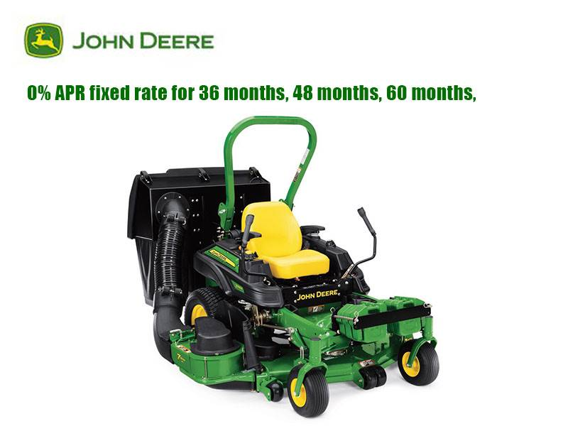 John Deere - 0% APR fixed rate for 36 months, 48 months, 60 months