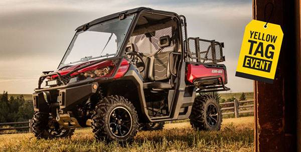 Can-Am Yellow Tag Event Rebate List Defender