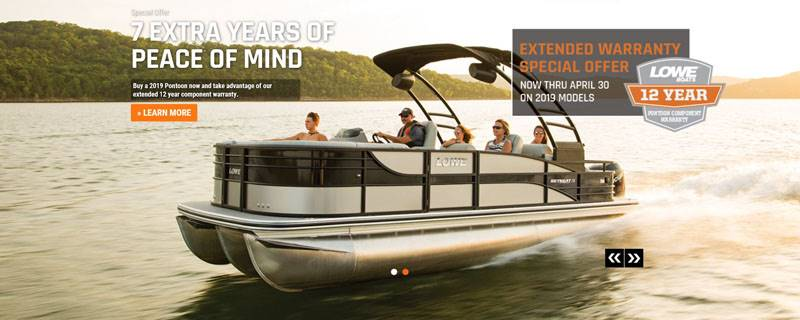 Lowe Boats - 12 Years Pontoon Component Warranty