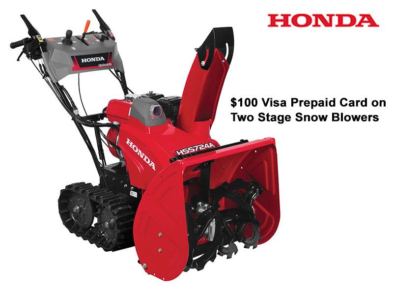 Honda Power Equipment - $100 Visa Prepaid Card on Two Stage Snow Blowers