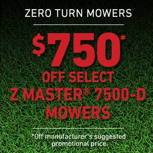 Toro - $750 USD Off Select Z Master 7500-D Series Mowers