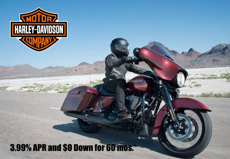 Harley-Davidson -  3.99% APR and $0 Down for 60 mos.*