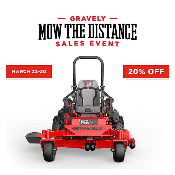Gravely USA Gravely - Mow the Distance Sales Event