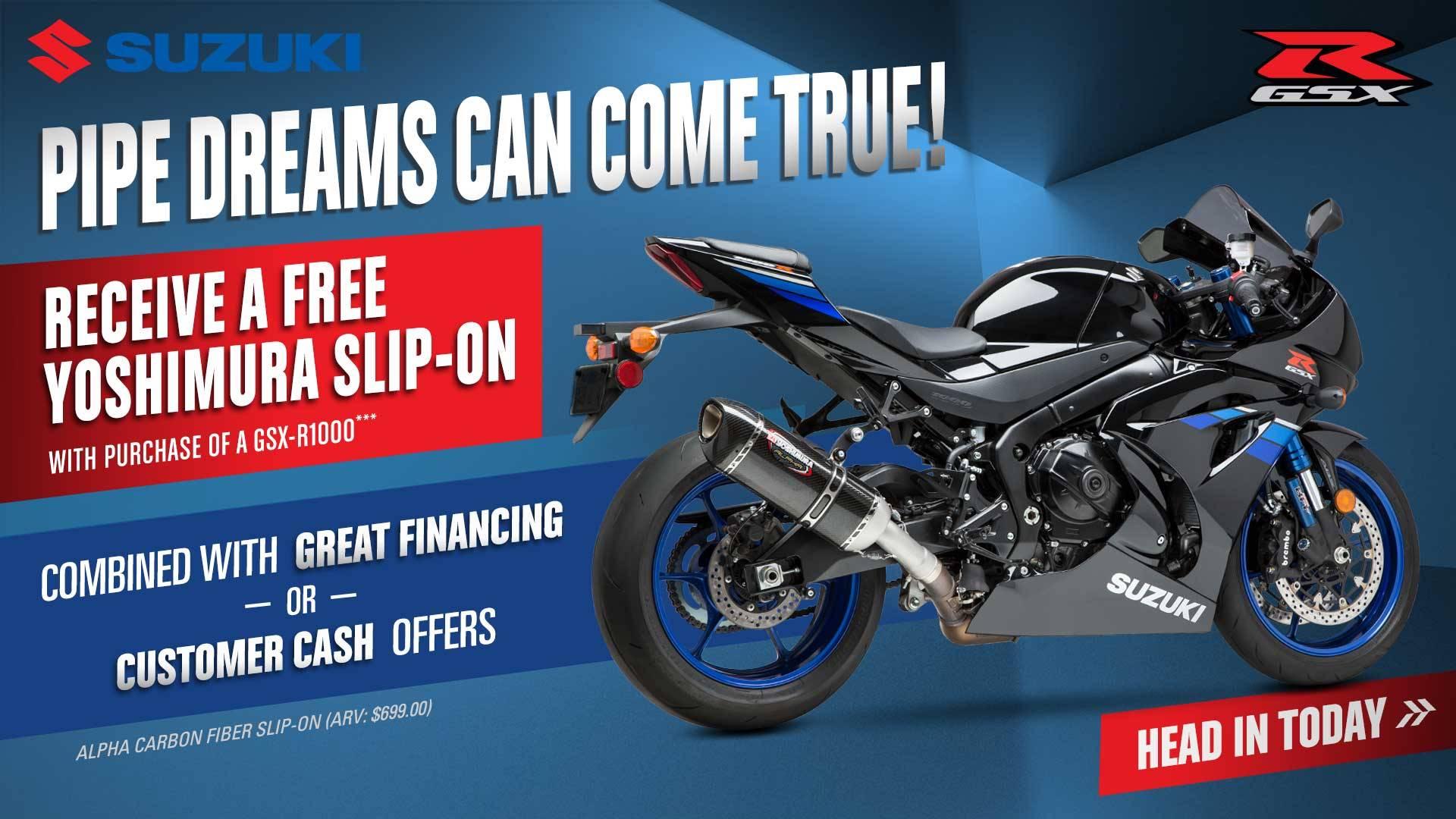 Suzuki - Pipe Dreams Can Come True!