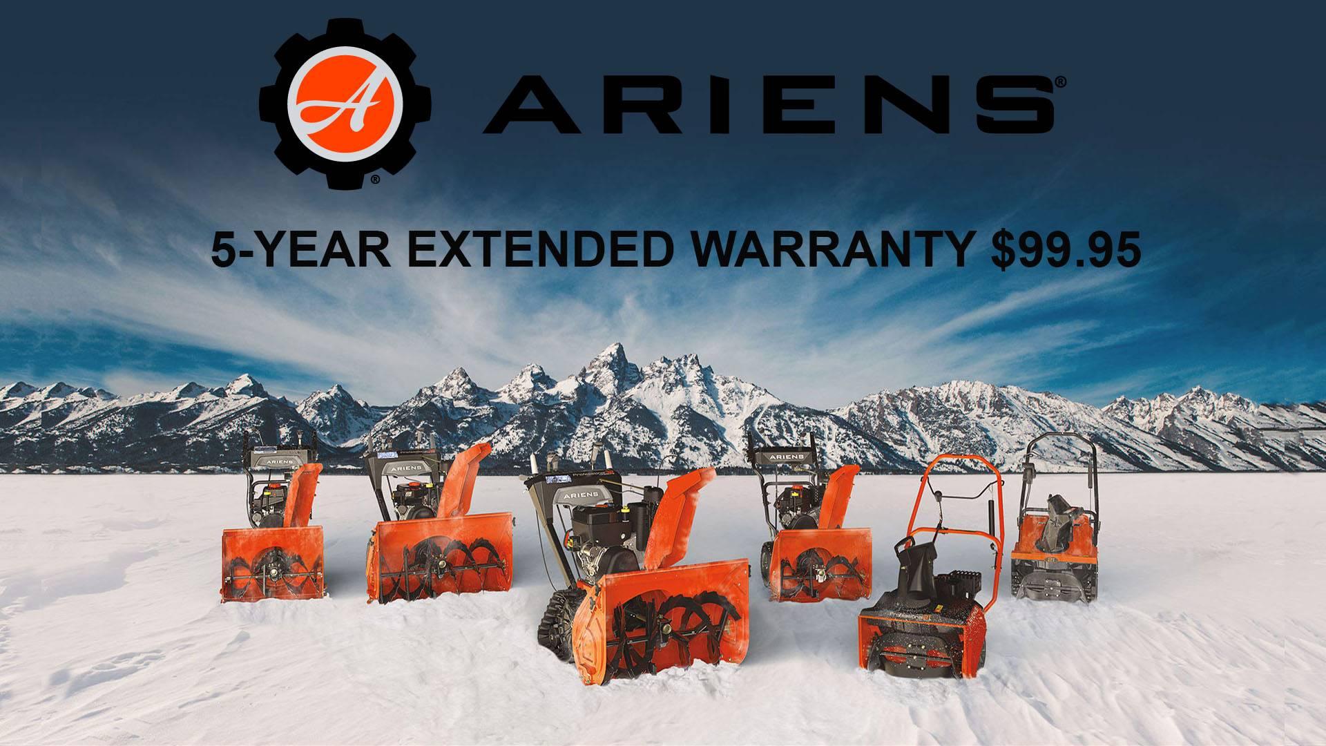 Ariens - 5-Year Extended Warranty $99.95