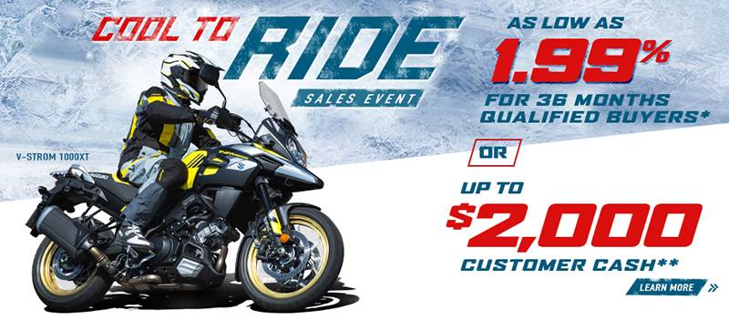 Suzuki Motor of America Inc. Suzuki - Cool To Ride Sales Event