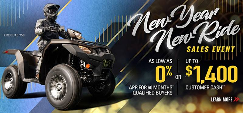Suzuki Motor of America Inc. Suzuki - New Year Ride Sales Event - ATV