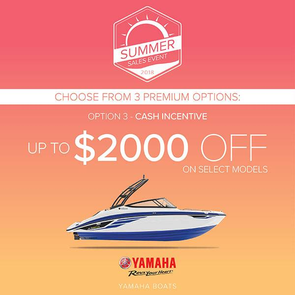 Yamaha Boats - Summer Sales Event - Option 3