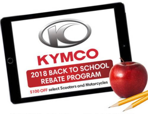 Kymco - 2018 Back to School Rebate Program