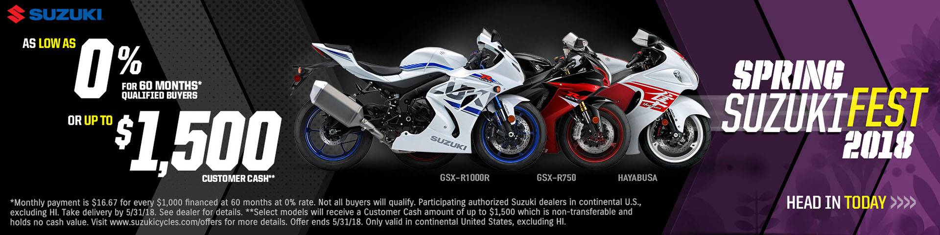 Suzuki Motor of America Inc. Suzuki - Spring Suzuki Fest for Sportbike and Standard