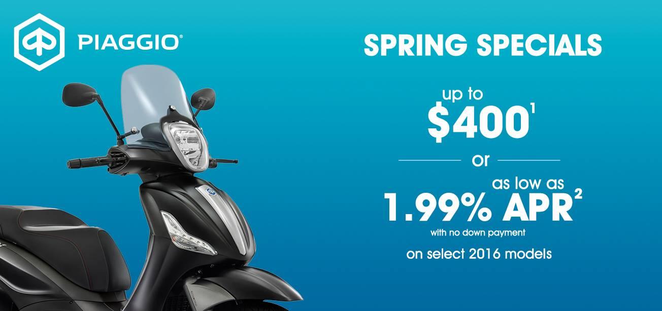 Piaggio Spring Specials
