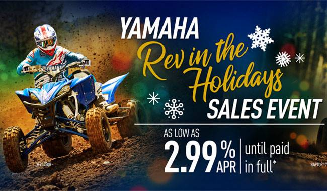 Yamaha Motor Corp., USA Yamaha - Rev in the Holidays Sales Event - Sport ATV