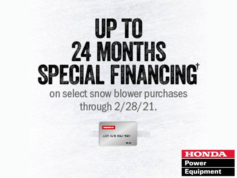 Honda Power Equipment - Up to 24 Months Special Financing