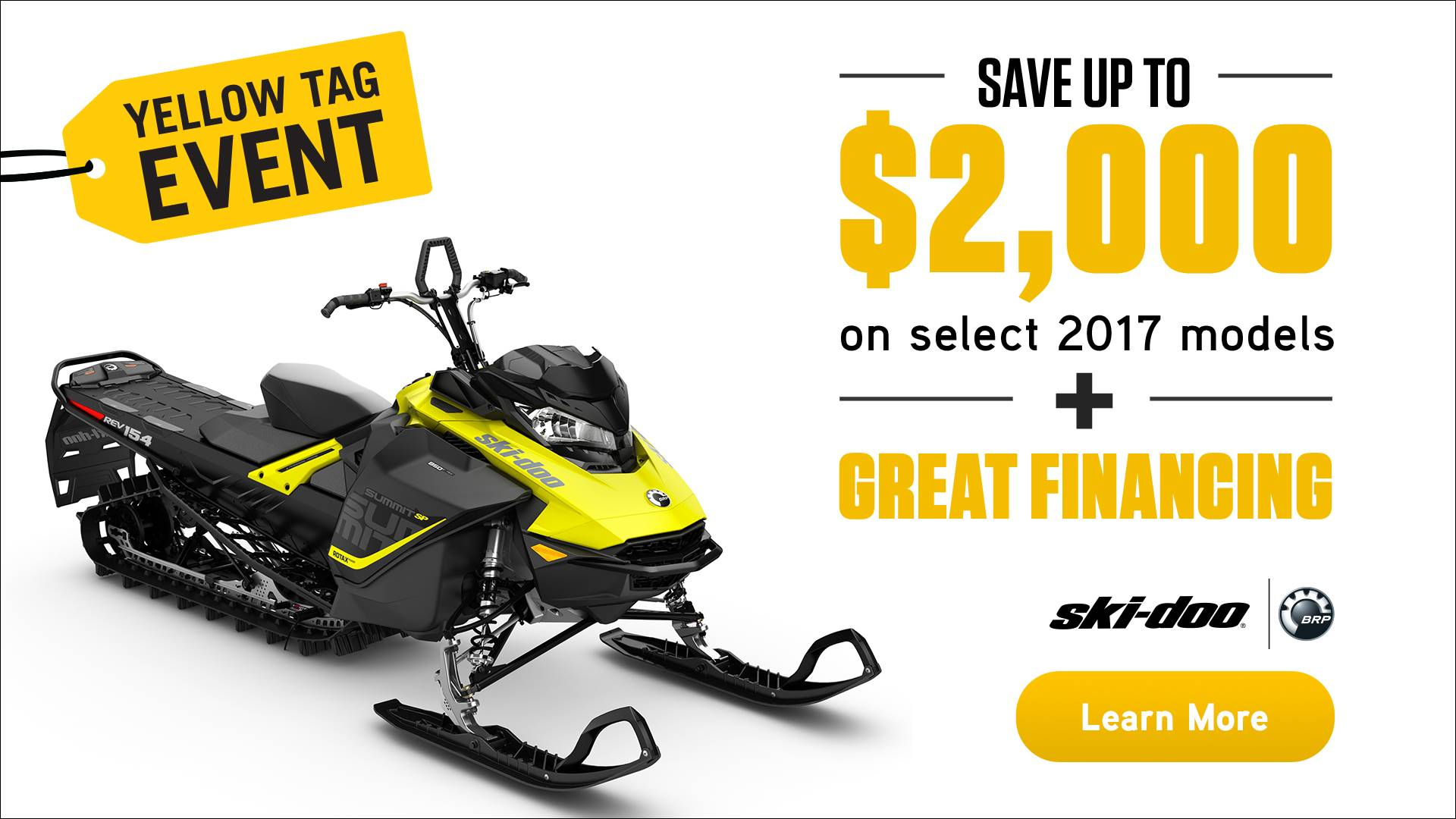 Ski-Doo Yellow Tag Event