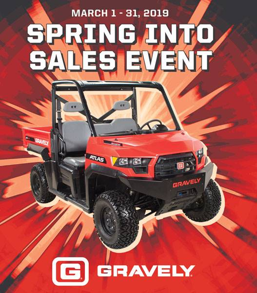 Gravely - Spring into Sales Event - Save up to $750 on an Atlas JSV®
