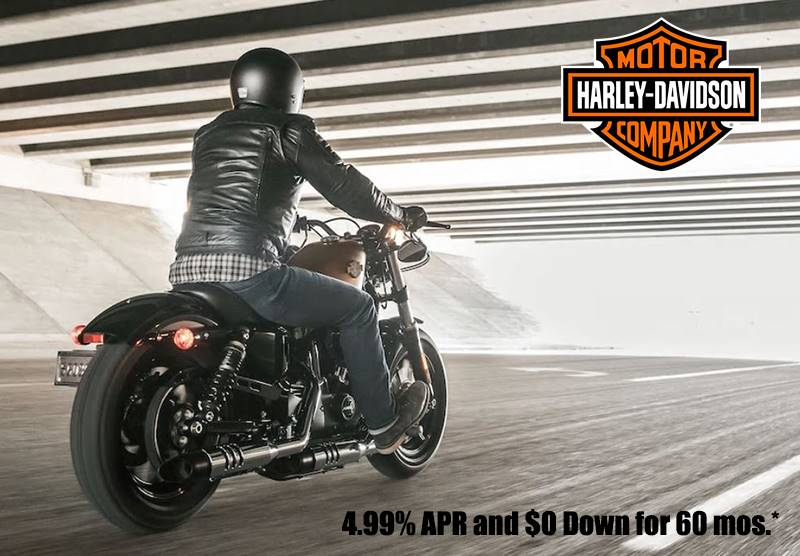Harley-Davidson -  4.99% APR and $0 Down for 60 mos.*