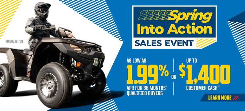 Suzuki Motor of America Inc. Suzuki - Spring Into Action As Low As 1.99% APR For 36 Months