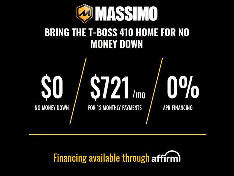 Massimo - Bring The T-Boss 410 Home For No Money Down