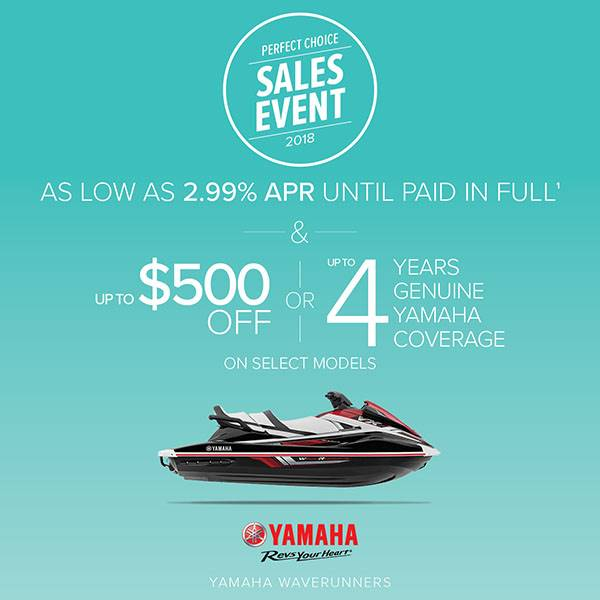 Yamaha Motor Corp., USA Yamaha Waverunners - Perfect Choice Sales Event - 2.99% APR