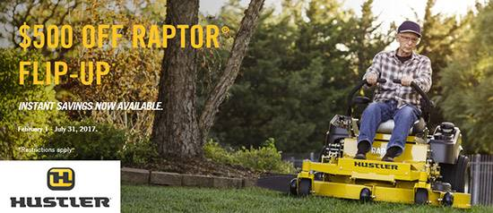 Hustler Turf Equipment RAPTOR® FLIP-UP PROMO