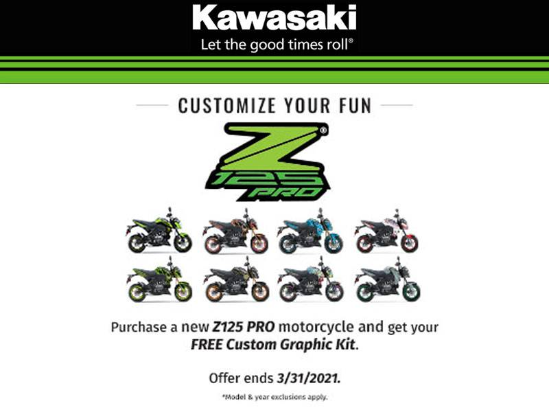Kawasaki - Z125 Pro - Free Custom Graphic Kit