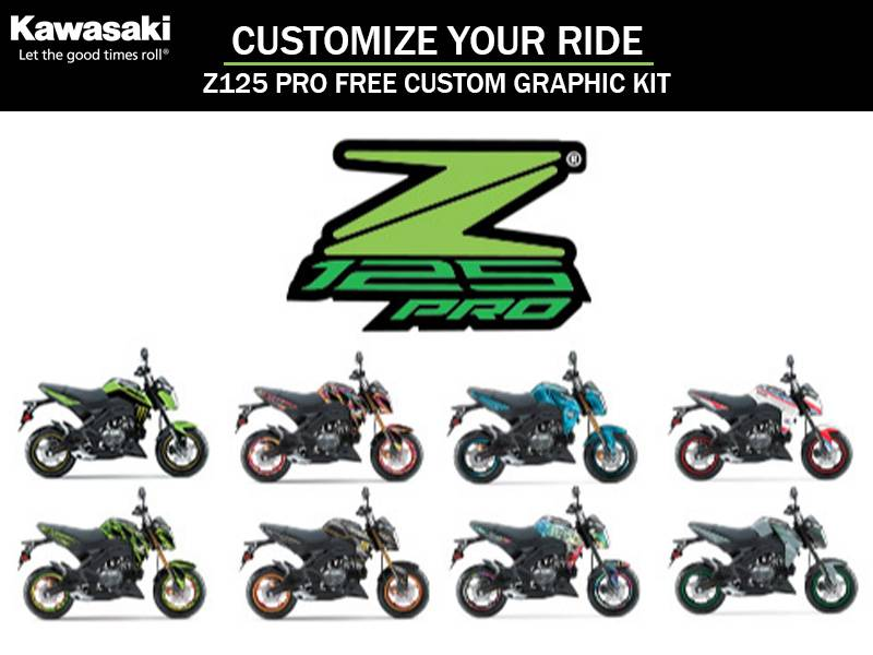 Kawasaki - Customize Your Ride - Z125 PRO Free Custom Graphic KIT