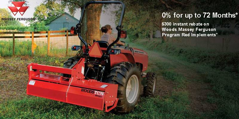 Massey Ferguson - 0% for up to 72 Months plus $300 instant rebate