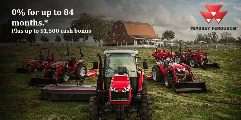 Massey Ferguson - 0% for up to 84 Months* Plus up to $1,500 Cash Bonus