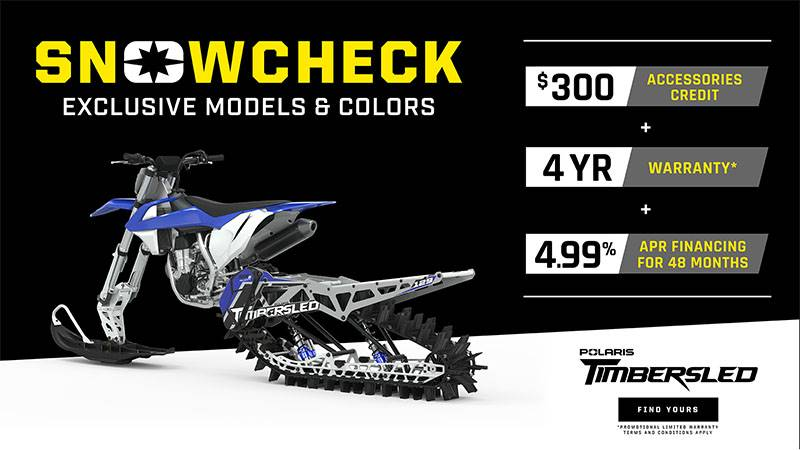Timbersled - Snowcheck Exclusive Models Offer