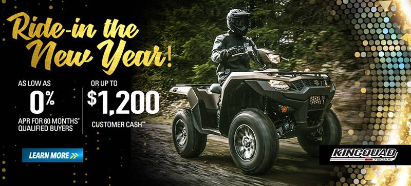 Suzuki Motor of America Inc. Suzuki - Ride in the New Year - All ATVs