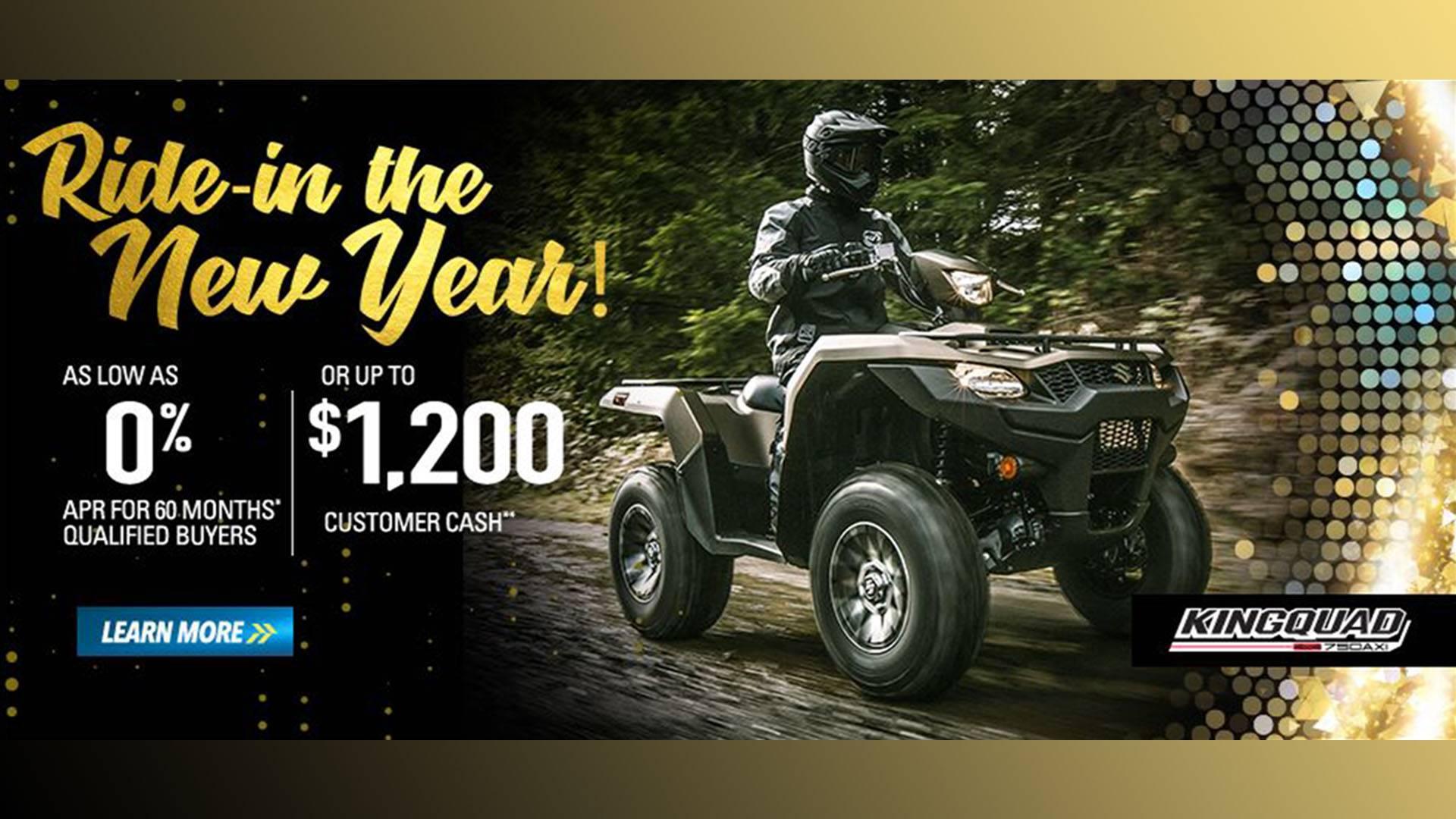 Suzuki - Ride in the New Year - All ATVs