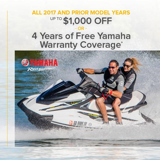 Yamaha Waverunners - Revs your Heart - Free Warranty Coverage OR Up to $1,000 Off
