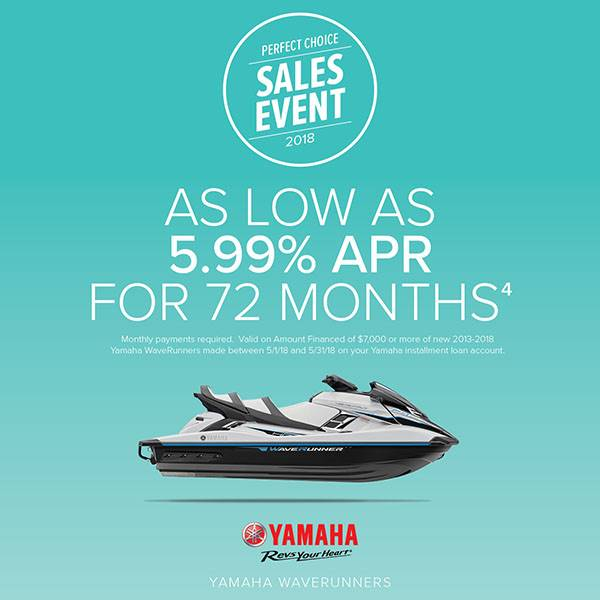 Yamaha Waverunners - Perfect Choice Sales Event - 5.99% APR