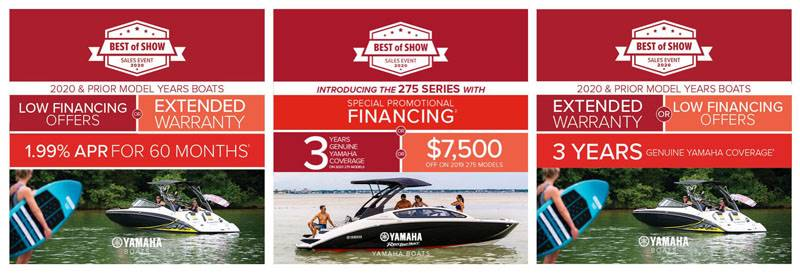 Yamaha Motor Corp., USA Yamaha Boats - Best of Show Sales Event 2020