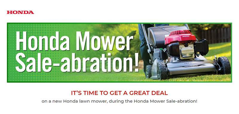 Honda Power Equipment - Honda Mower Sale-abration