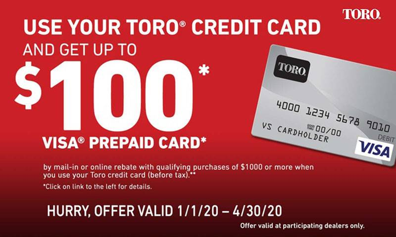 Toro - Visa Prepaid Credit Card Rebate Offer