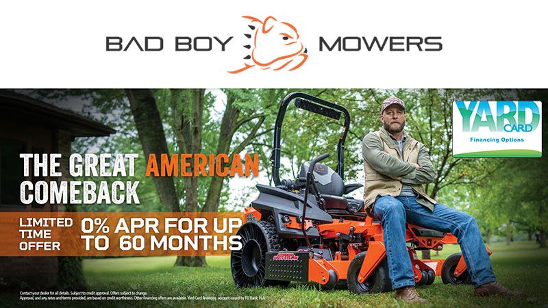 Bad Boy Mowers - Yard Card Financing Programs