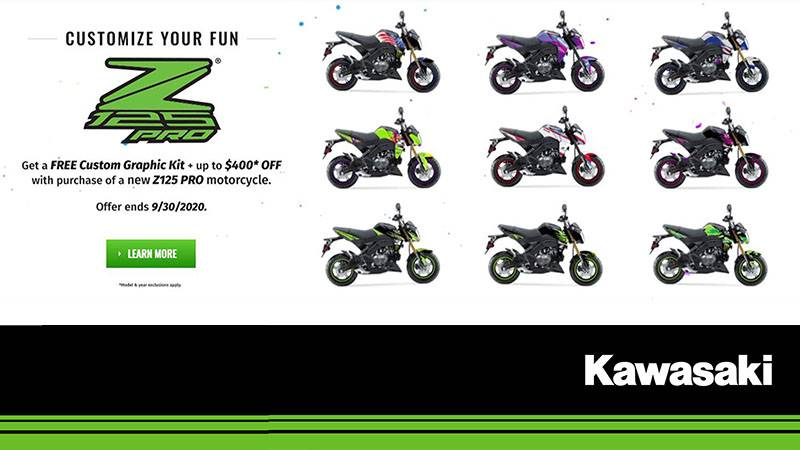 Kawasaki - Free Custom Graphic Kit + Up to $400 Off