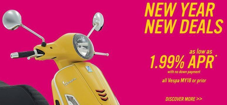Vespa - New Year, New Deals on Vespa