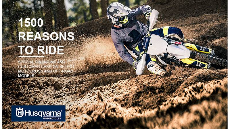 Husqvarna - Limited Time Motocross and Off-Road Offers