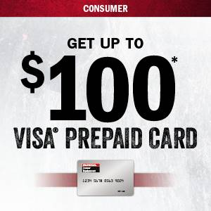 Honda Power Equipment Honda - $100 VISA PREPAID CARD